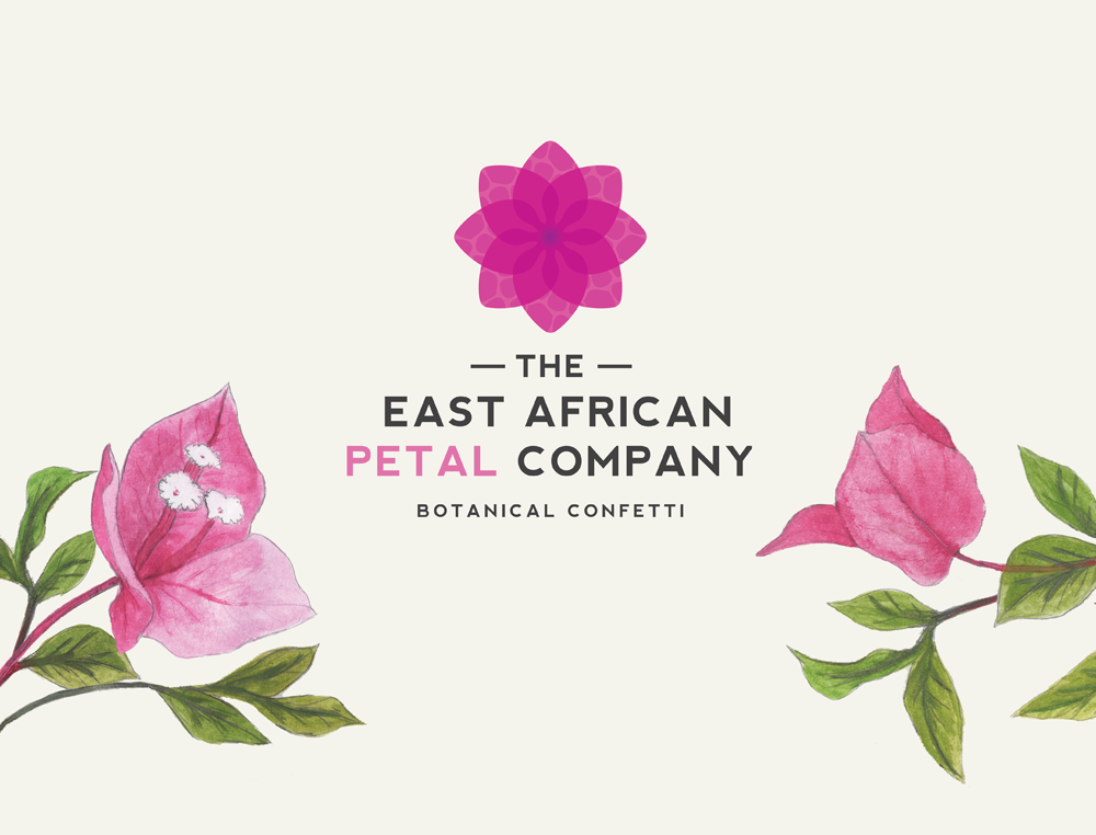 East African Petal Company confetti packaging design