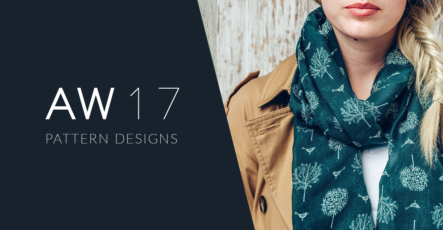AW 17 Scarf and bag Pattern designs