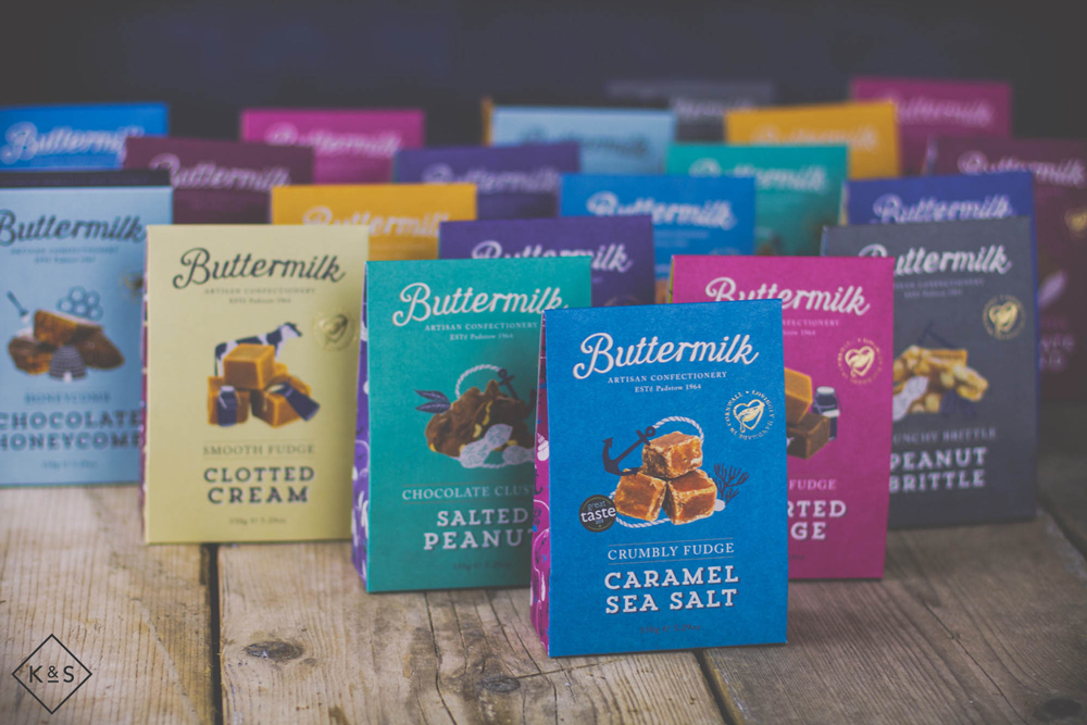 Buttermilk Confectionery , Fudge Packaging, sharing pack, photoshoot