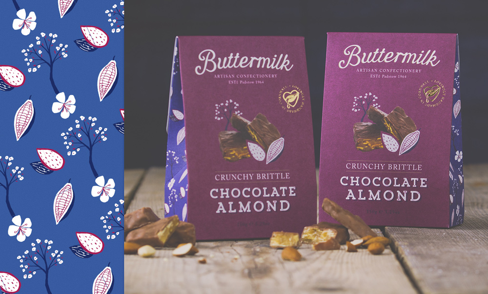 Buttermilk Confectionery, almond brittle, Fudge Packaging Design