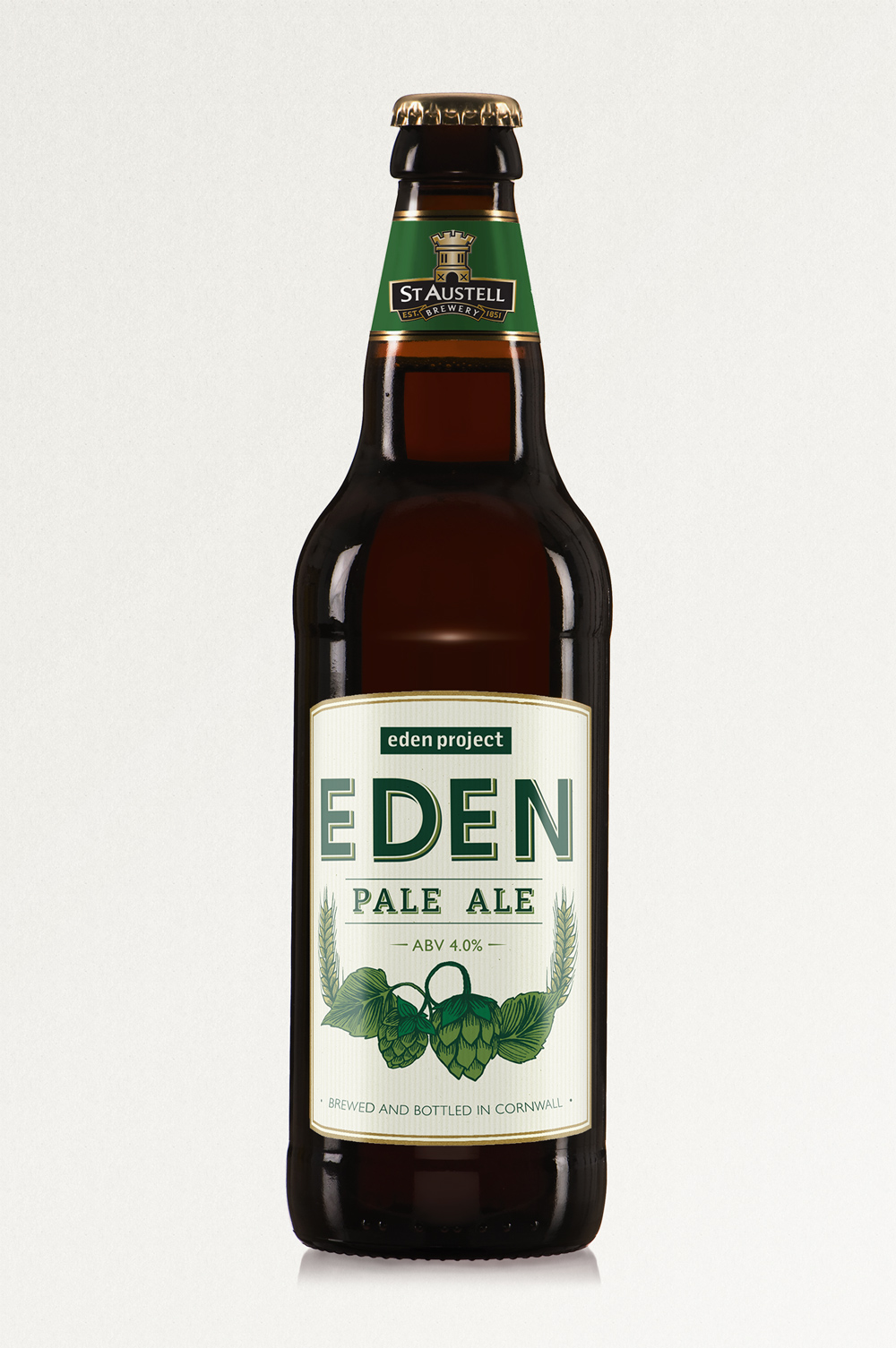 Eden Beer, St Austell Brewery, pale ale, bottle label design