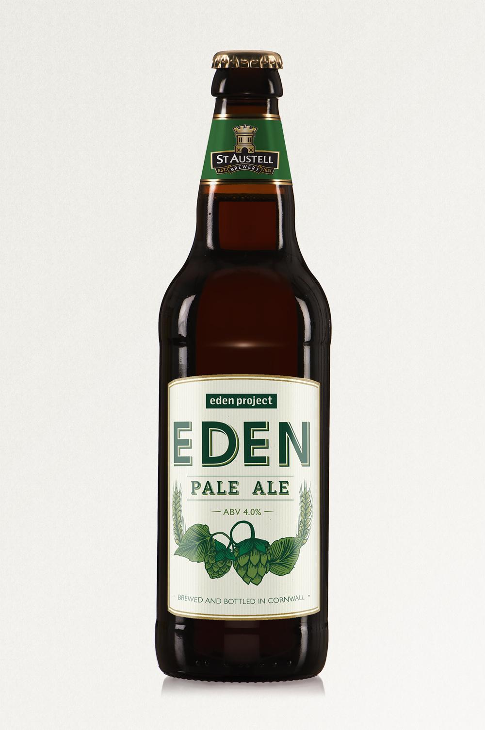 Eden Beer, St Austell Brewery, pale ale, bottle label design