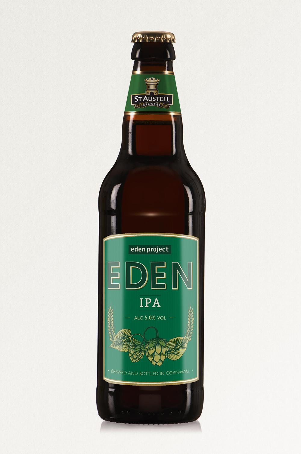 EDEN IPA, St Austell Brewery, IPA ,bottle label design
