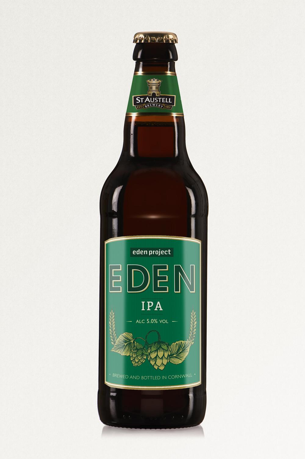 EDEN IPA, St Austell Brewery, IPA ,bottle label design