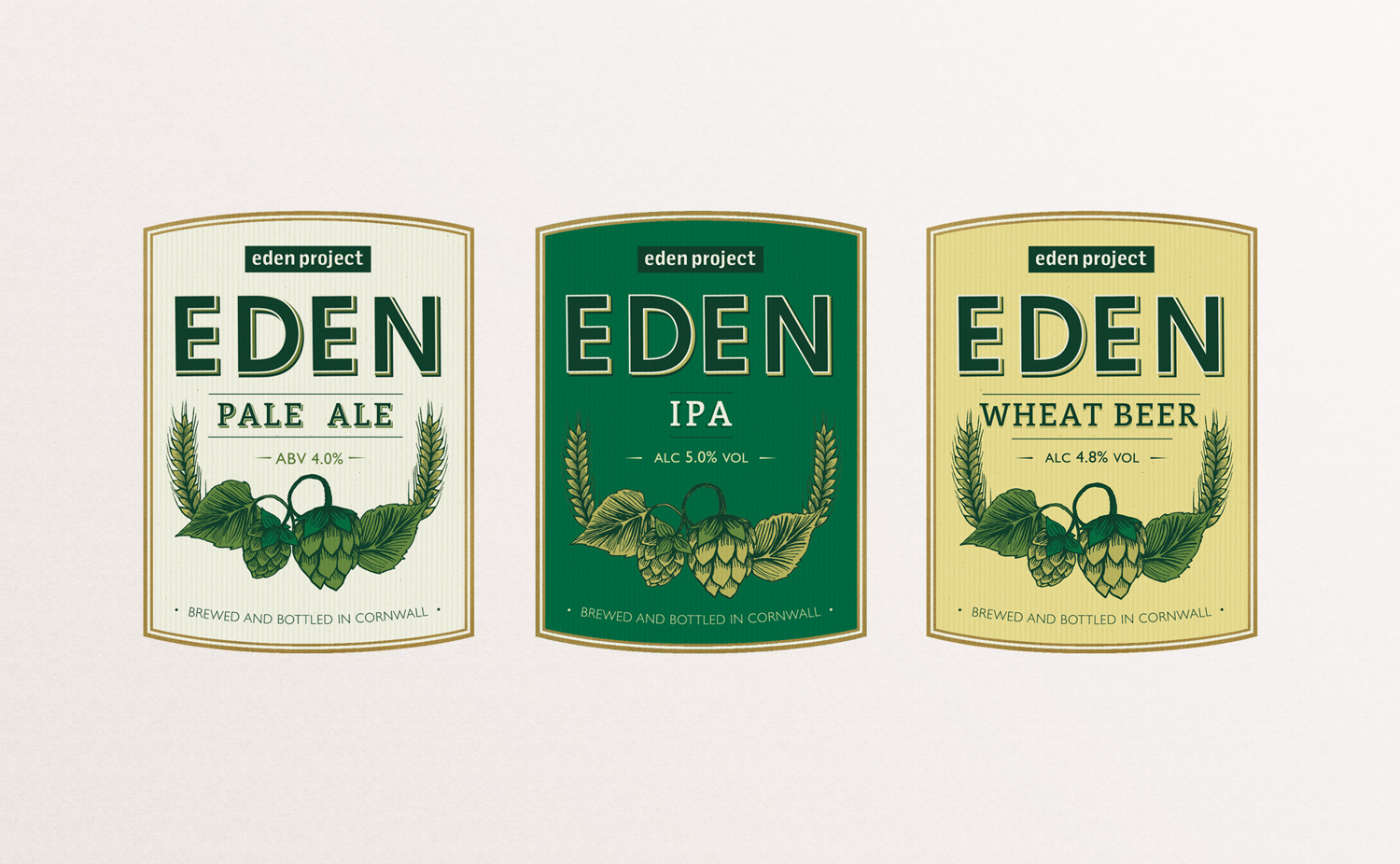 Eden pale ale, ipa, wheat beer label, beer label design