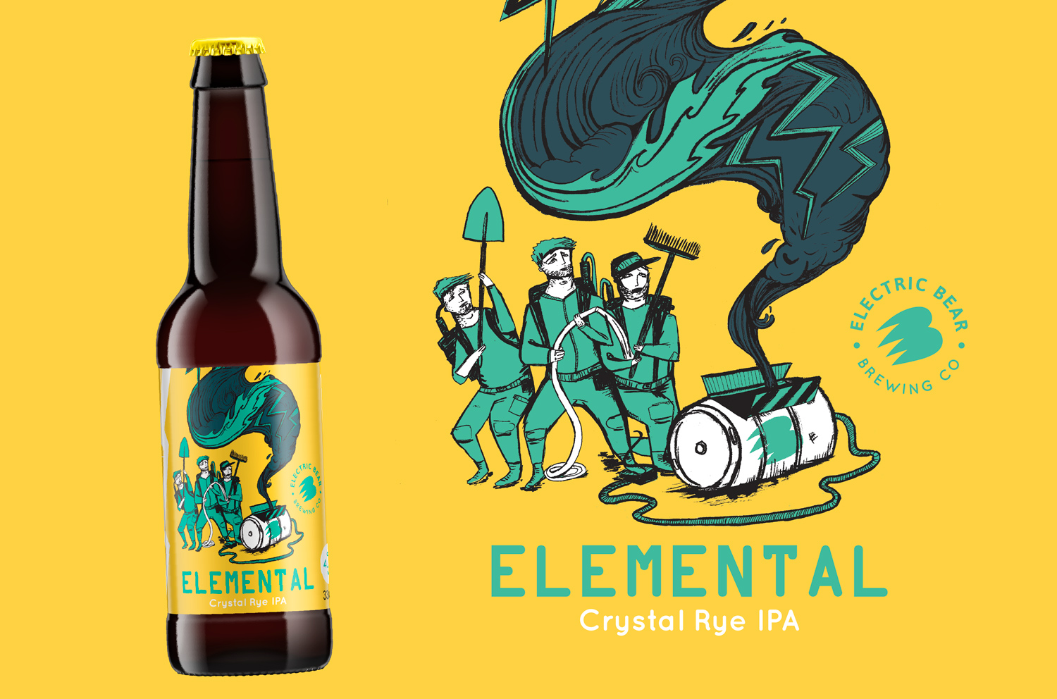 Ghost busters inspired illustration for beer label