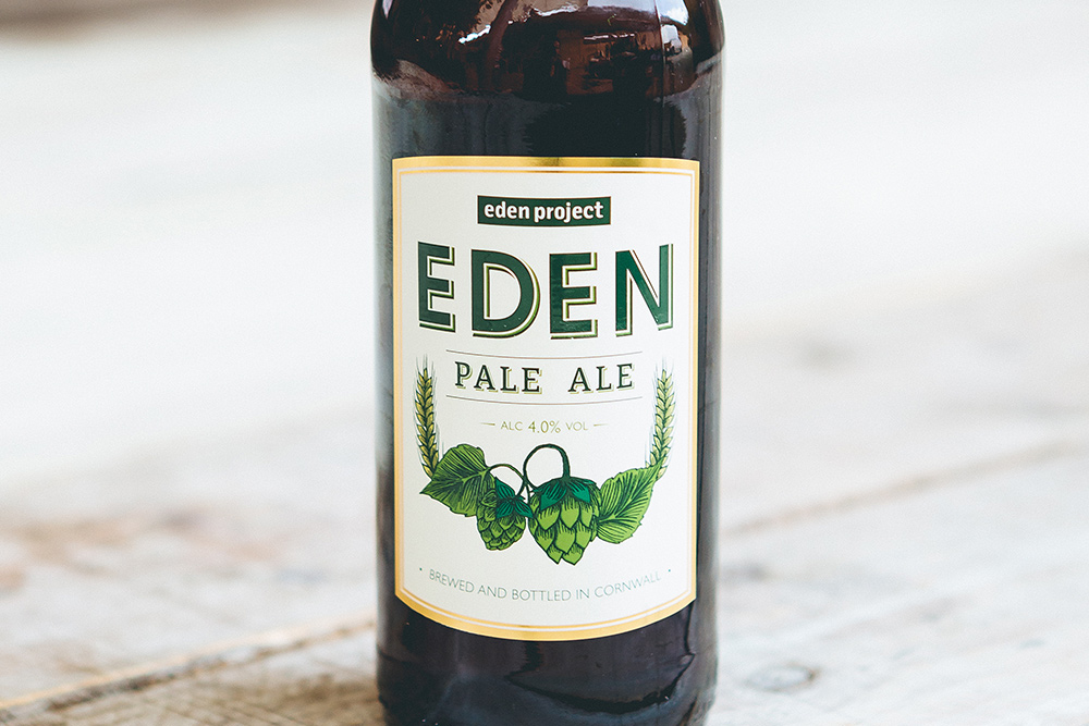 Eden project Pale Ale bottle label design