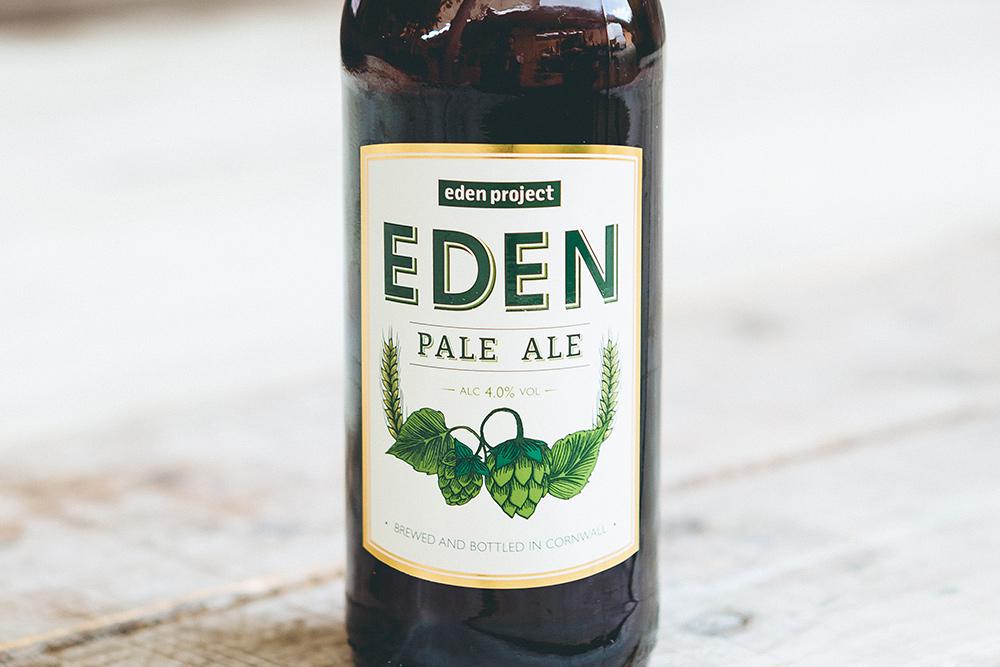 Eden project Pale Ale bottle label design