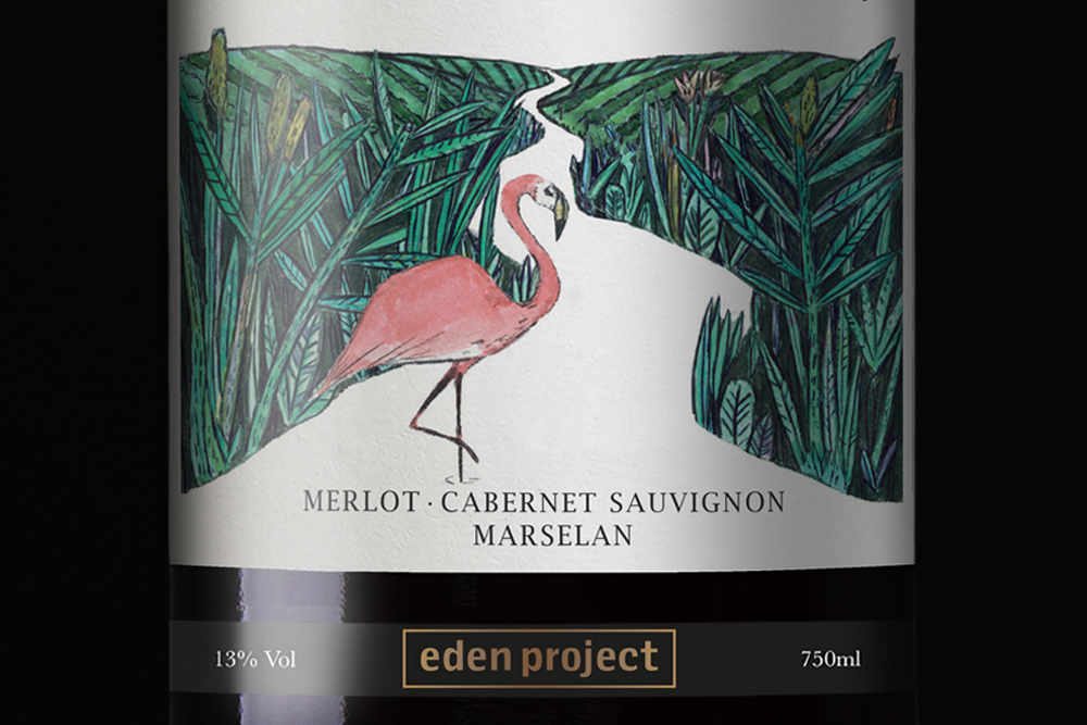 Eden Project Wine Label Design