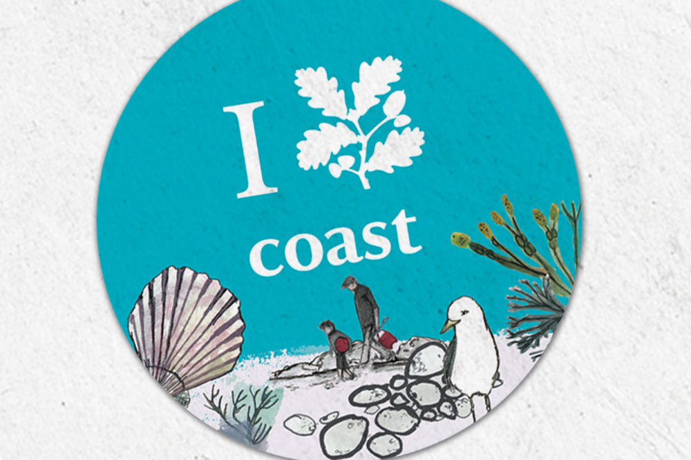 National trust Coastal festival events branding