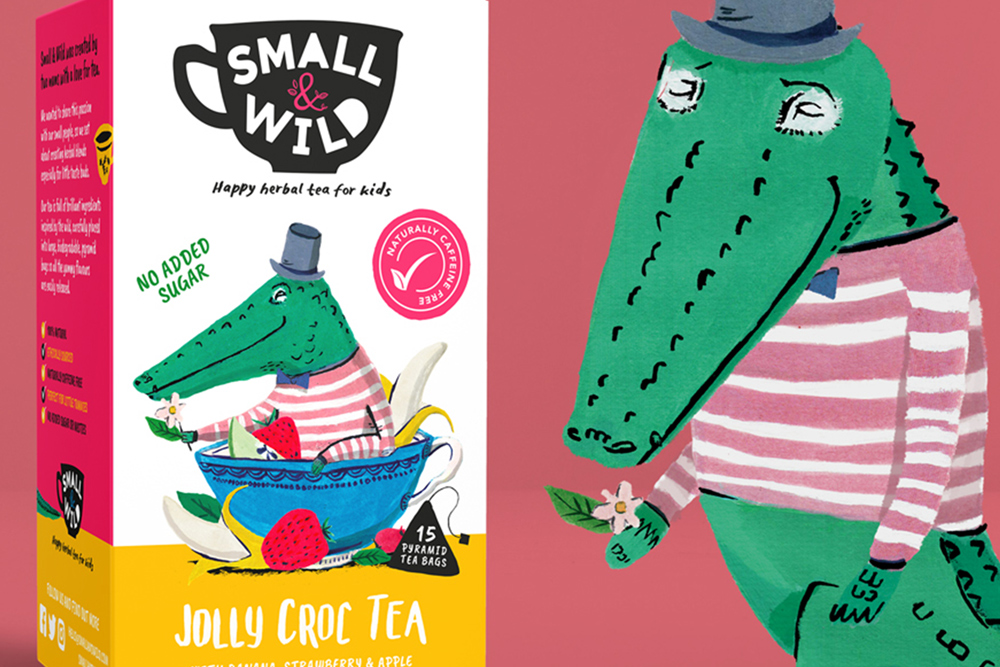 Small & Wild tea packaging design and illustration