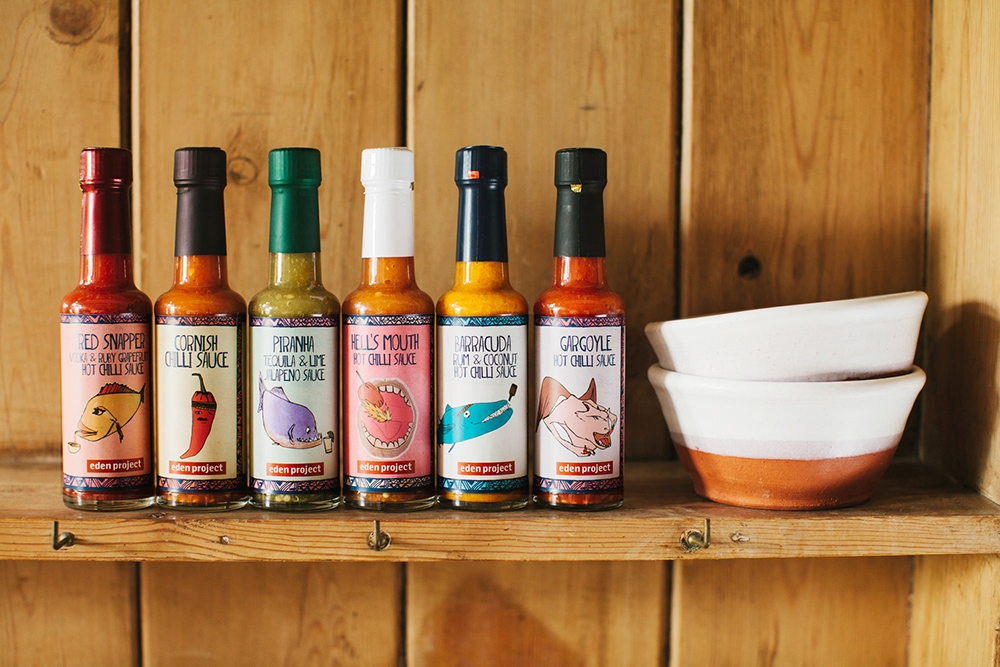 Eden Project Chilli sauce range