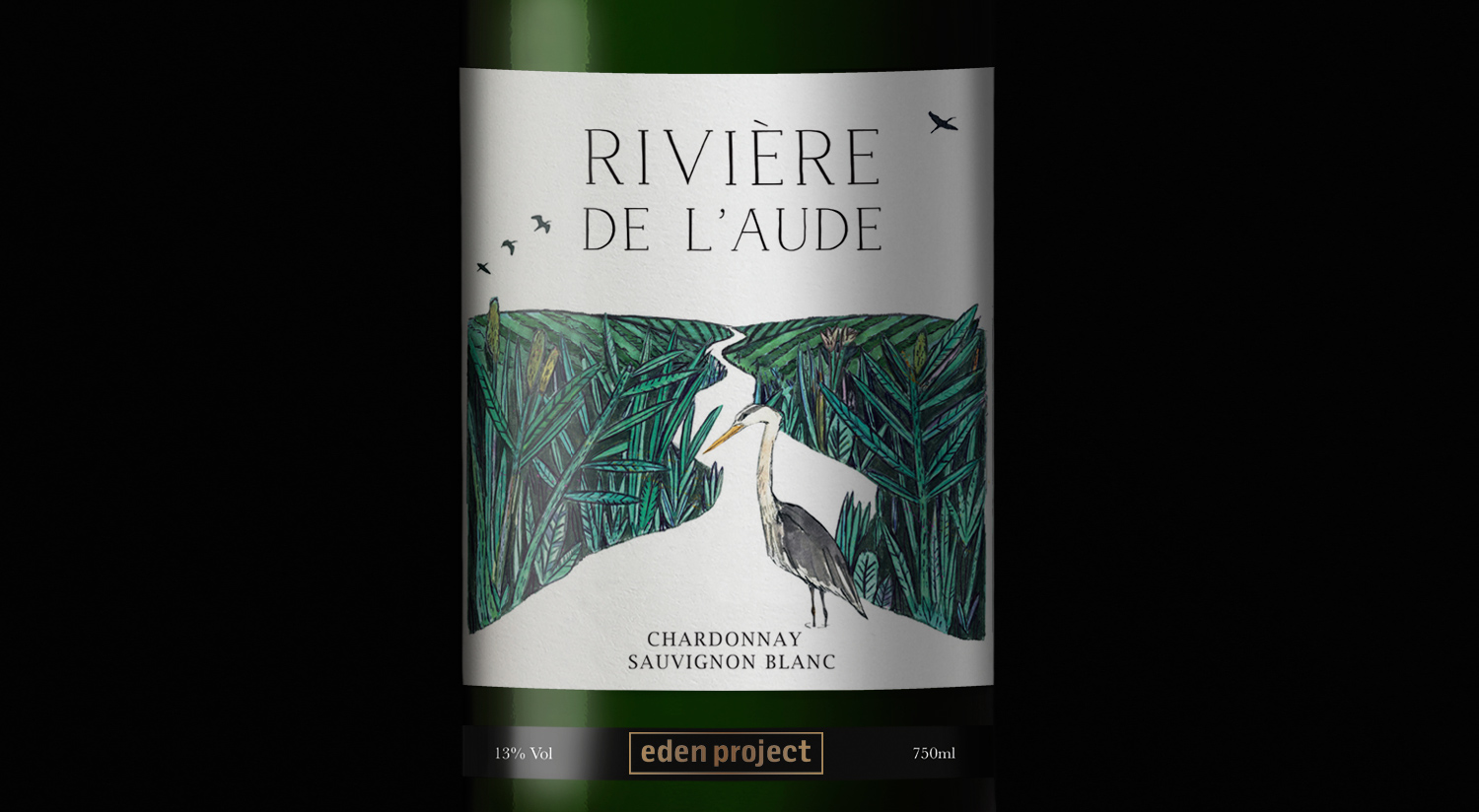 Eden Project wine label design white