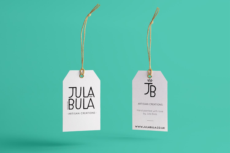 Julabula jula bula white gift tag for bespoke plates and artisan creations
