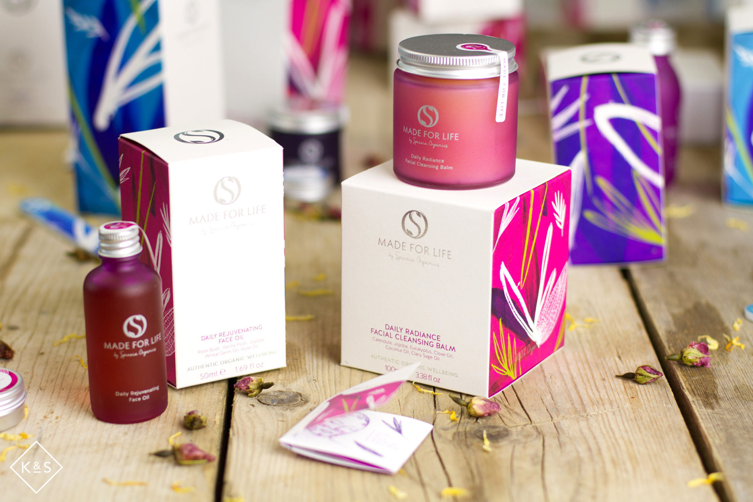 Made For Life Organics Cosmetics Range packaging design and illustration-pic2