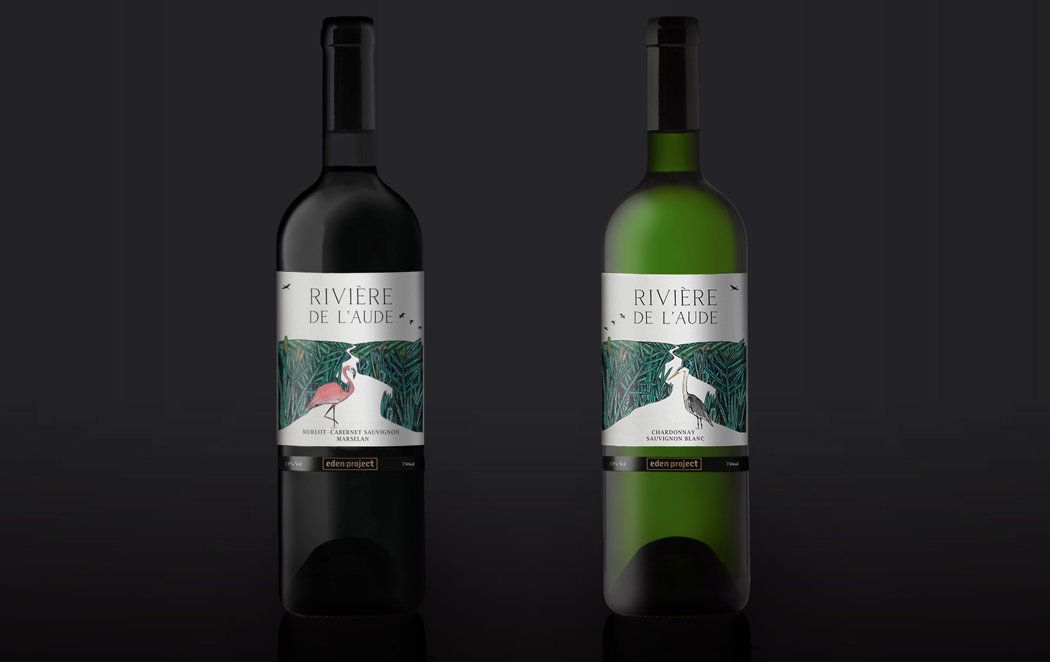 Eden Project wine range packaging design