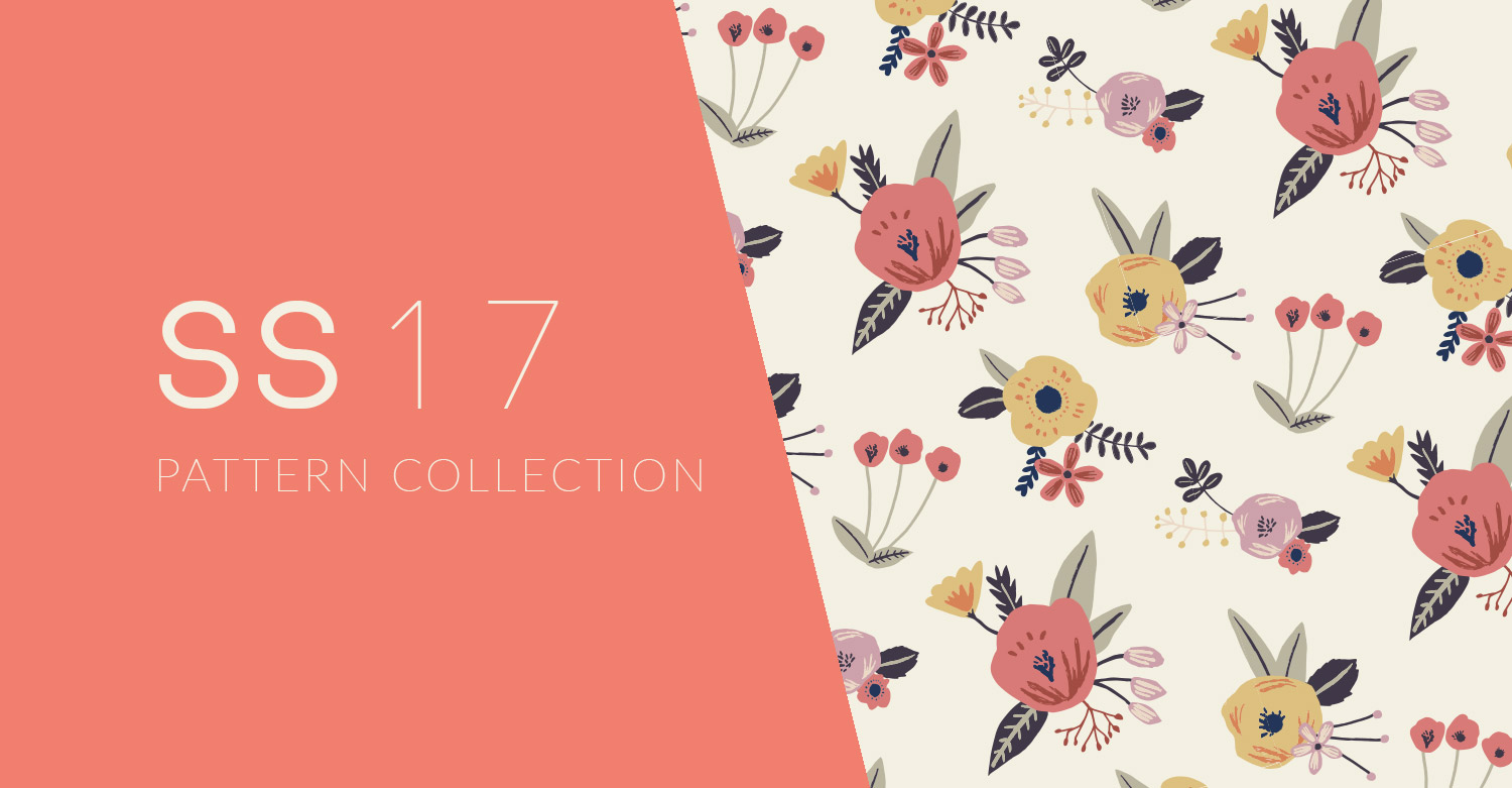 Surface Pattern Design - Floral-F&J-collection-SS17