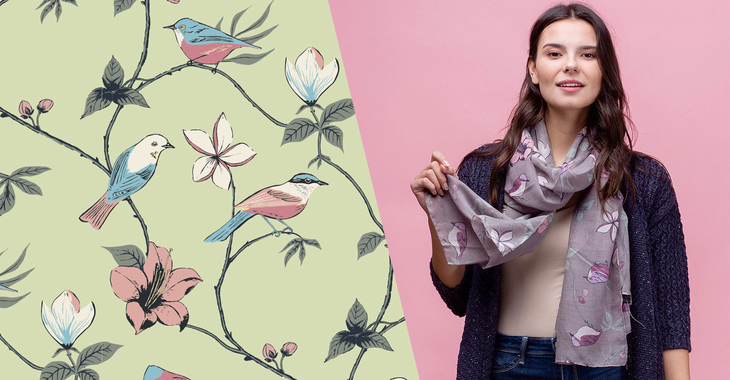 Surface-Pattern-Print-Bird-Scarf-Design-SS19