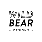 Wild Bear designs logo white