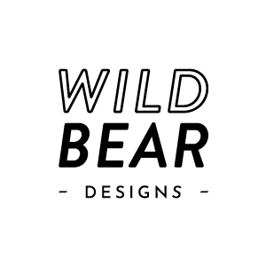 Wild Bear Designs Logo white Round-300px