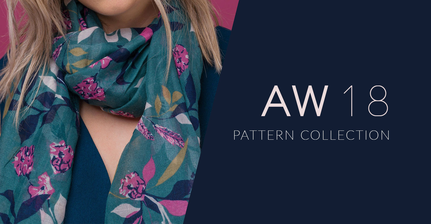 Surface Pattern Print Scarf Design AW18 Slider
