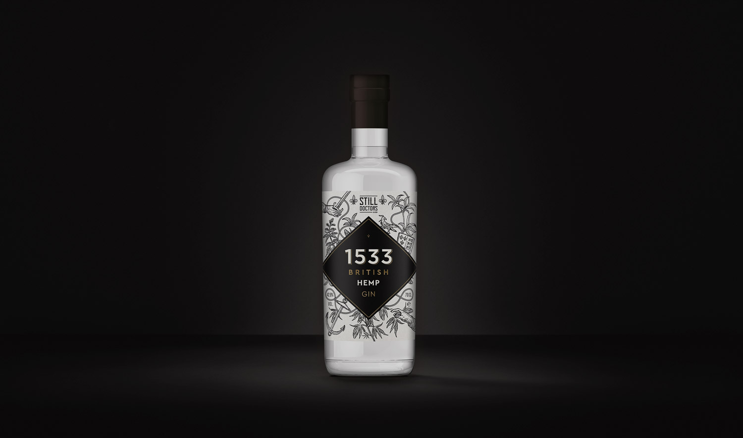 Gin-Label-branding-design-1533-hemp-gin-wild-bear-designs