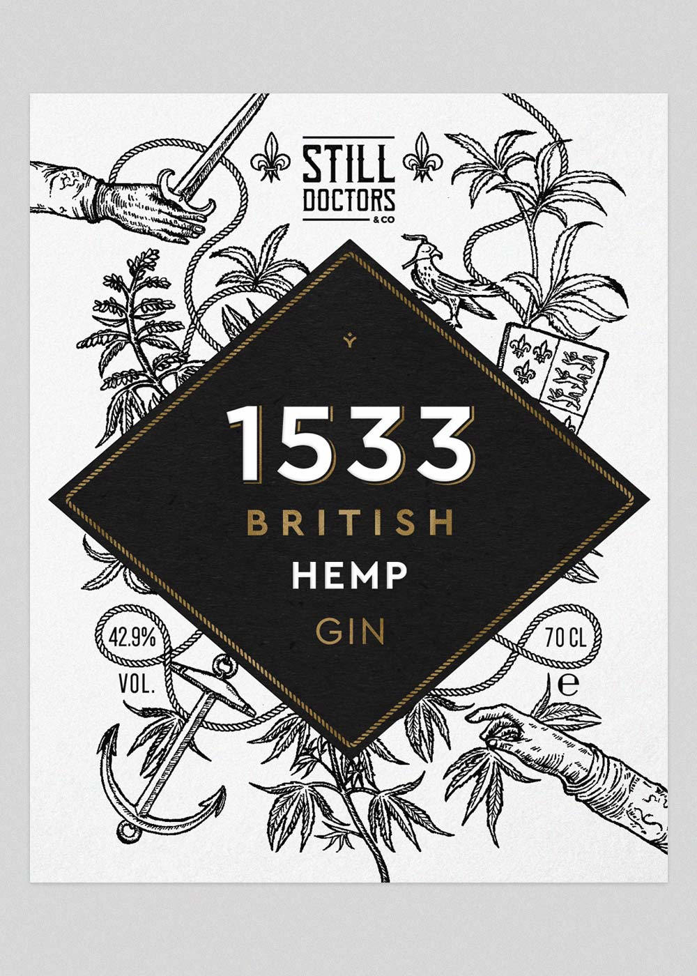 Gin Label design & branding-1533-Hemp Gin Wild-Bear-Designs-pic3