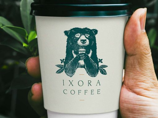 Ixora Coffee Branding
