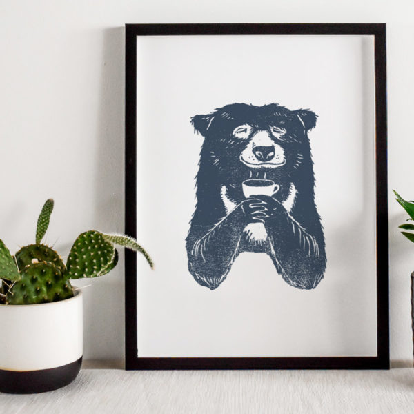 Bear-with-coffee-a4-giclee-print-shop-pic