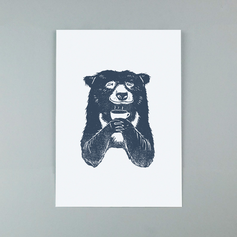 Bear-with-coffee-a4-giclee-print
