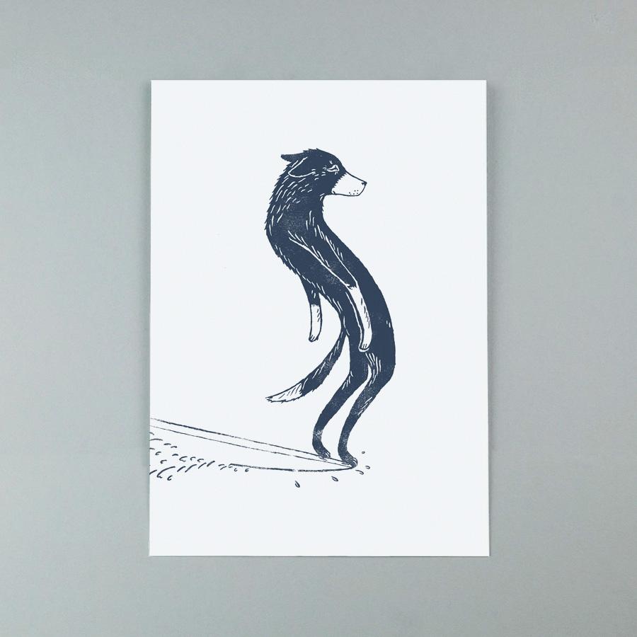 Surfing-Dog-Surf-art-giclee-print-by-Diggy-Smerdon